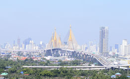 Bangkok city. Day view with main traffic Stock Photo