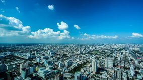 Time lapse city day. Bangkok city day view with traffic, time lapse stock video footage
