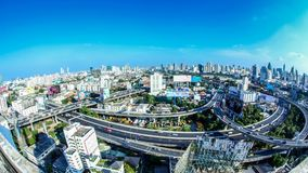 Time lapse city day. Bangkok city day view with traffic,Time lapse stock footage