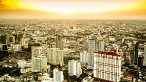Time lapse city day. Bangkok city day view with traffic,Time lapse stock video footage