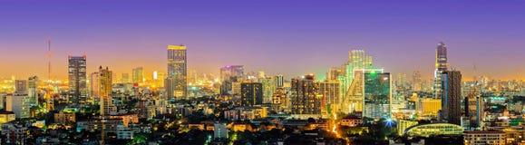 Bangkok City Downtown At Night Stock Photography