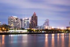Bangkok city downtown at night Royalty Free Stock Photos