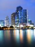Bangkok city downtown at night Stock Photos