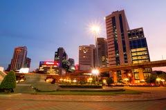 Bangkok city downtown at night Royalty Free Stock Images