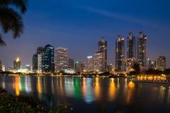 Bangkok city downtown at night Royalty Free Stock Photography