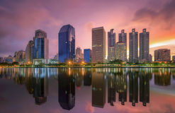 Bangkok city downtown at sunrise Stock Photography