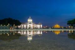 Bangkok City - Dusit Palace. Ananta Samakom Throne Hall in Bangkok , beautiful sunset , Landscape Thailand Stock Photography