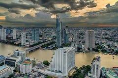 Bangkok city at dusk Stock Photo