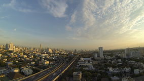 Bangkok city in the early evening, Thailand. stock video footage