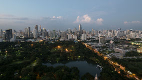 Bangkok city in the evening Stock Image