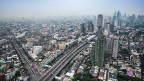 Bangkok city at evening time lapse stock video footage