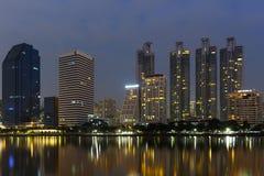 Bangkok city. Gan skyscraper set eyes Basket Stock Photography