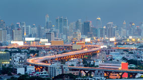 Bangkok city highway curved Stock Images