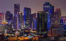 Bangkok city of light Royalty Free Stock Photo