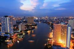 Bangkok city and Modern building Royalty Free Stock Photos