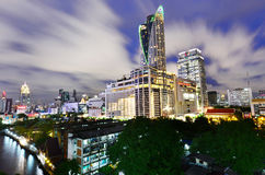 Bangkok city modern building view point Stock Images