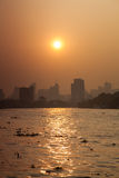Bangkok city in morning. Royalty Free Stock Photos