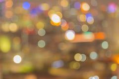 Bangkok city night light, Bokeh background Stock Image