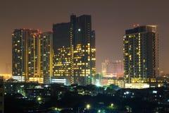 Bangkok City Night Light Capital City Royalty Free Stock Images
