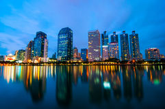 Bangkok city at night scenes. Stock Photography