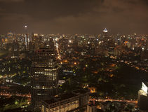 Bangkok city at night Stock Images