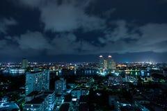 Bangkok city at night. Stock Images