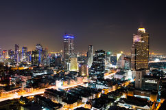 Bangkok City Night, Thailand. Stock Photography