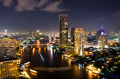 Bangkok City Night, Thailand. Stock Photos