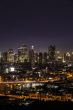 Bangkok city at night Royalty Free Stock Photo