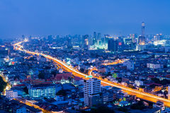 Bangkok city at night, Thailand.  Royalty Free Stock Images