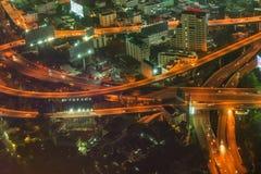 Bangkok city at night, Thailand Royalty Free Stock Photo