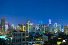 Bangkok city at night. Royalty Free Stock Photography