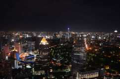 Bangkok city at night Stock Image
