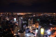 Bangkok city at night Royalty Free Stock Photography