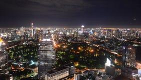 Bangkok city at night Stock Image