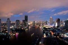 Bangkok City at night time Royalty Free Stock Photos