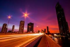 Bangkok City at night time Stock Photo