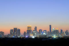Bangkok city night with the twilight scene Royalty Free Stock Photo