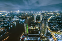 Bangkok city night view Stock Photo
