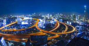Bangkok city night view Royalty Free Stock Photography