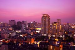 Bangkok city night view Stock Image