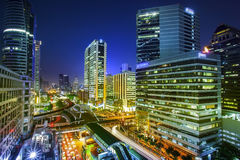 Bangkok city night view Royalty Free Stock Image
