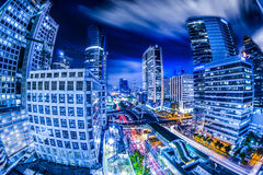 Bangkok city night view Royalty Free Stock Photos