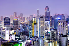 Bangkok city night view.Bangkok,Thailand. Stock Image