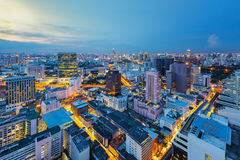 Bangkok city night Royalty Free Stock Photo