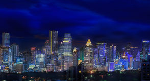 Bangkok city night view Royalty Free Stock Photos