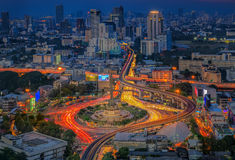 Bangkok city night view Stock Photos