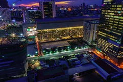Bangkok city night view, new CBD Bangkok Stock Photo