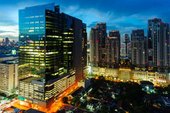 Bangkok city night view, new CBD Stock Images