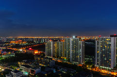 Bangkok city night view Stock Images